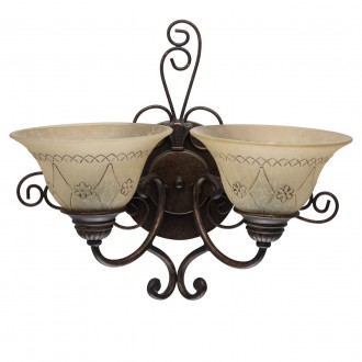 CHIARO 382022902 | Magdalena-MW Chiaro zidna svjetiljka 2x E27 1290lm antik brončano, krem