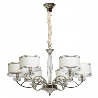 CHIARO 386014806 | Palermo-MW Chiaro luster svjetiljka 6x E14 2580lm krom, bijelo, prozirno