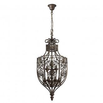 CHIARO 389011609 | Magdalena-MW Chiaro visilice svjetiljka 9x E14 5805lm braon antik