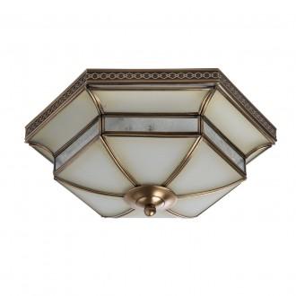 CHIARO 397010103 | Marquis Chiaro stropne svjetiljke svjetiljka 3x E27 1935lm mesing, prozirno