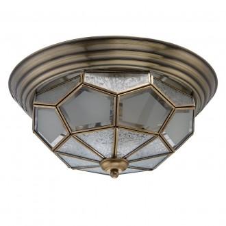 CHIARO 397010403 | Marquis Chiaro stropne svjetiljke svjetiljka 3x E14 1290lm mesing, prozirno