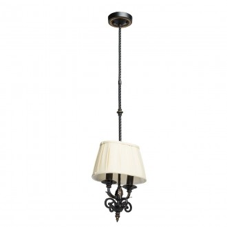 CHIARO 401010402 | Victoria-MW Chiaro visilice svjetiljka 2x E14 1290lm antik crno, krem