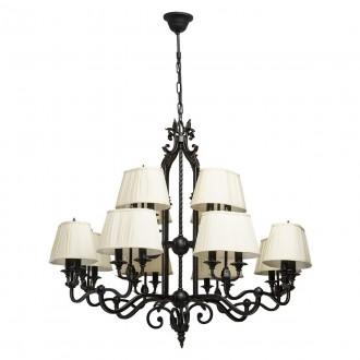 CHIARO 401010624 | Victoria-MW Chiaro luster svjetiljka 24x E14 15480lm antik crno, krem