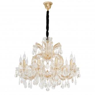 CHIARO 405010810 | Odetta-MW Chiaro luster svjetiljka 10x E14 6450lm zlatno, kristal, crno
