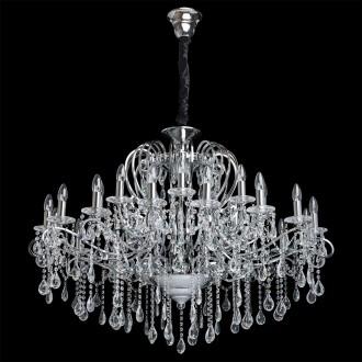 CHIARO 458010524 | Suzanne-MW Chiaro luster svjetiljka 24x E14 10320lm krom, kristal, prozirno