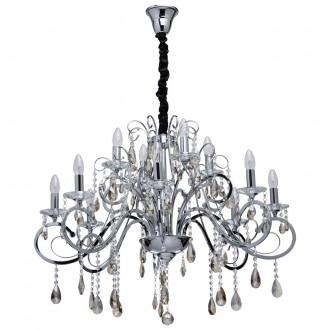 CHIARO 458011012 | Suzanne-MW Chiaro luster svjetiljka 12x E14 5160lm krom, kristal, šampanjac žuto