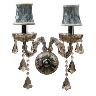 CHIARO 475020402 | Ivelina Chiaro zidna svjetiljka 2x E14 1290lm krom, dim, bronca topaz