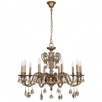 CHIARO 491011110 | Gabriel-MW Chiaro luster svjetiljka 10x E14 6450lm antik bakar, bronca topaz