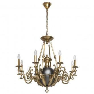 CHIARO 491012208 | Gabriel-MW Chiaro luster svjetiljka 8x E14 5160lm antik bakar, crno