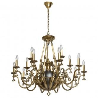 CHIARO 491012315 | Gabriel-MW Chiaro luster svjetiljka 15x E14 9675lm antik bakar, crno