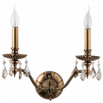 CHIARO 491021302 | Gabriel-MW Chiaro zidna svjetiljka 2x E14 1290lm antik bakar, bronca topaz