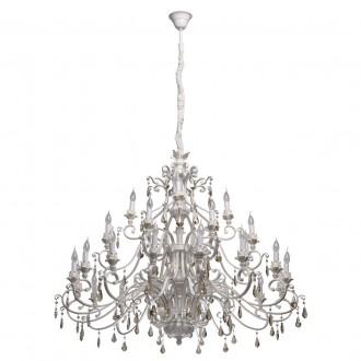 CHIARO 639012828 | Bologna-MW Chiaro luster svjetiljka 28x E14 18060lm antik bijela