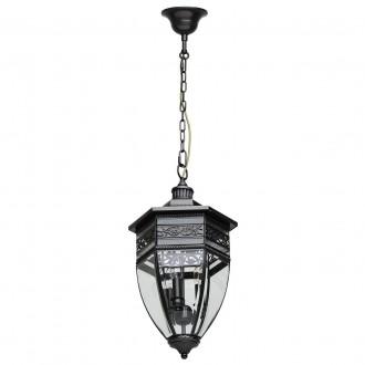 CHIARO 801010403 | Corso-MW Chiaro visilice svjetiljka 3x E14 1935lm IP44 crno, prozirno