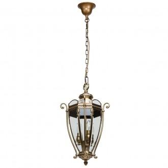 CHIARO 802010703 | Corso-MW Chiaro visilice svjetiljka 3x E14 1935lm IP44 antik bakar, prozirno