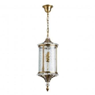 CHIARO 802011104 | Corso-MW Chiaro visilice svjetiljka 4x E14 2580lm IP44 antik bakar, prozirno, kristal