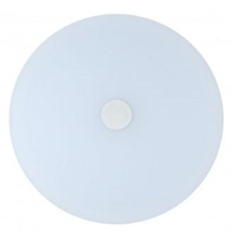 DE MARKT 660012801 | Norden De Markt stropne svjetiljke svjetiljka okrugli daljinski upravljač jačina svjetlosti se može podešavati, sa podešavanjem temperature boje, Bluetooth, noćno svjetlo 1x LED 7200lm 3000 <-> 6000K bijelo, opal