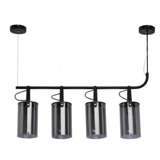 DE MARKT 673014504   Alpha-MW De Markt visilice svjetiljka 4x E27 1720lm crno, dim