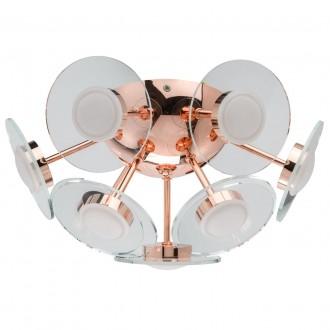 DE MARKT 678012309 | Graffiti De Markt stropne svjetiljke svjetiljka 1x LED 2800lm 3000K crveni bakar, prozirno, acidni