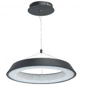 DE MARKT 703010901 | Omega-MW De Markt visilice svjetiljka 1x LED 3200lm 3000K crno mat, učinak kristala