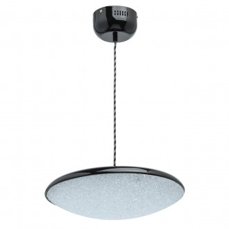 DE MARKT 703011101 | Omega-MW De Markt visilice svjetiljka 1x LED 1600lm 3000K crno, učinak kristala