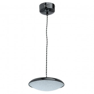 DE MARKT 703011201 | Omega-MW De Markt visilice svjetiljka 1x LED 800lm 3000K crno, učinak kristala