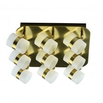 DE MARKT 704010909   Galaxy-MW De Markt stropne svjetiljke svjetiljka elementi koji se mogu okretati 9x LED 1800lm 3000K IP44 zlato mat, opal