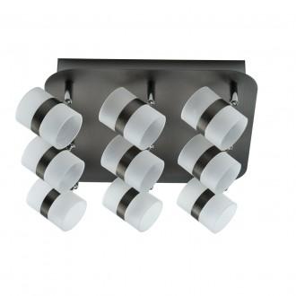 DE MARKT 704011009   Galaxy-MW De Markt stropne svjetiljke svjetiljka elementi koji se mogu okretati 9x LED 1800lm 3000K IP44 antik srebrna, opal