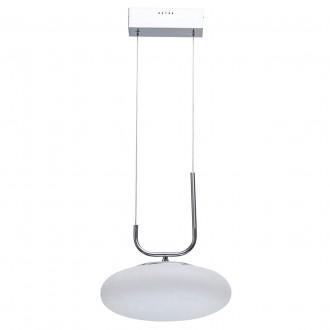 DE MARKT 722010601 | Auksis De Markt visilice svjetiljka 1x LED 2400lm 3000K krom saten, opal