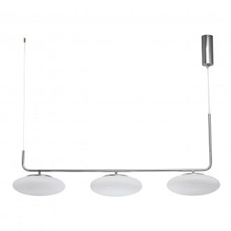 DE MARKT 722010803 | Auksis De Markt visilice svjetiljka 3x LED 7200lm 3000K krom saten, opal