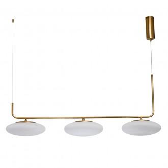 DE MARKT 722010903 | Auksis De Markt visilice svjetiljka 3x LED 7200lm 3000K zlato mat, opal