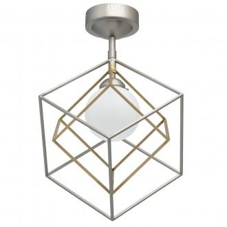 DE MARKT 726010301 | Prisma-MW De Markt stropne svjetiljke svjetiljka 1x LED 560lm 3000K satenski nikal, satenasti bakar, bijelo mat