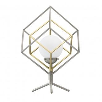 DE MARKT 726030401 | Prisma-MW De Markt stolna svjetiljka 44cm sa dodirnim prekidačem 1x LED 320lm 3000K satenski nikal, satenasti bakar, bijelo mat