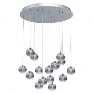 DE MARKT 730010315 | Coppelia De Markt visilice svjetiljka daljinski upravljač jačina svjetlosti se može podešavati, noćno svjetlo 15x LED 8100lm 3000K aluminij, acidni, prozirno