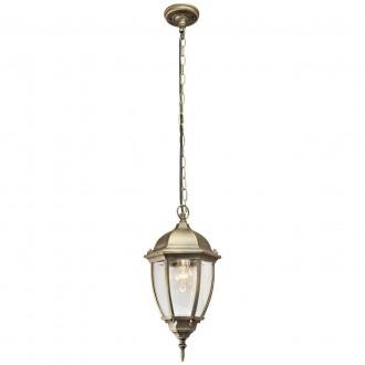 DE MARKT 804010401 | Fabur De Markt visilice svjetiljka 1x E27 1075lm IP44 antik zlato, prozirno