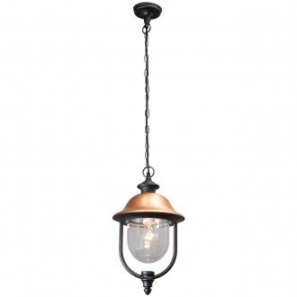 DE MARKT 805010401 | Dubai-MW De Markt visilice svjetiljka 1x E27 1021lm IP44 crno, crveni bakar, prozirno