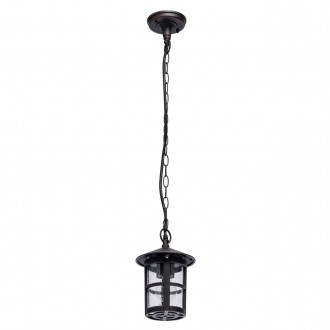 DE MARKT 806011001 | Glasgow-MW De Markt visilice svjetiljka 1x E27 645lm IP44 antik crno, efekt vodene kapi