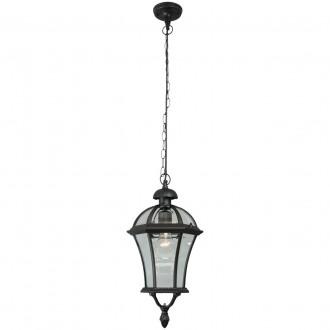 DE MARKT 811010301 | Sandra-MW De Markt visilice svjetiljka 1x E27 1075lm IP23 crno, prozirno