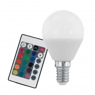 EGLO 10682 | E14 4W -> 28W Eglo mala kugla P45 LED izvori svjetlosti RGB-WW 300lm 3000K jačina svjetlosti se može podešavati, promjenjive boje daljinski upravljač CRI>80
