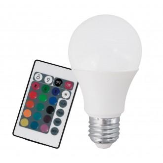 EGLO 10899 | E27 7,5W -> 40W Eglo obični A60 LED izvori svjetlosti RGB-WW 470lm 3000K jačina svjetlosti se može podešavati, promjenjive boje daljinski upravljač CRI>80