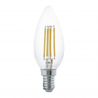 EGLO 11496 | E14 4W -> 30W Eglo oblik svijeće C35 LED izvori svjetlosti filament 350lm 2700K 360° CRI>80