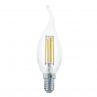 EGLO 11497 | E14 4W -> 30W Eglo dekorativna plamen FC35 LED izvori svjetlosti filament 350lm 2700K 360° CRI>80