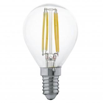 EGLO 11499 | E14 4W -> 30W Eglo mala kugla P45 LED izvori svjetlosti filament 350lm 2700K 360° CRI>80