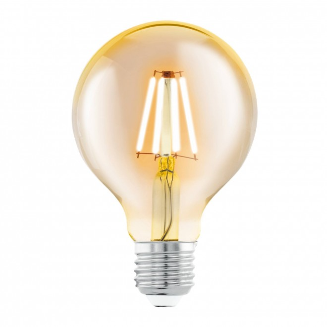 EGLO 11556 | E27 4W -> 30W Eglo velika kugla G80 LED izvori svjetlosti filament 330lm 2200K 360° CRI>80