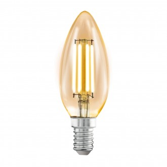 EGLO 11557 | E14 4W -> 22W Eglo oblik svijeće C35 LED izvori svjetlosti filament 220lm 2200K 360° CRI>80