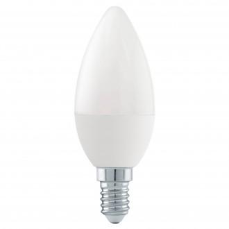 EGLO 11581 | E14 6W -> 40W Eglo oblik svijeće C37 LED izvori svjetlosti Step Dim. 470lm 3000K jačina svjetlosti se može podešavati s impulsnim prekidačem 180° CRI>80