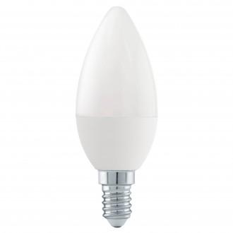 EGLO 11582 | E14 6W -> 40W Eglo oblik svijeće C37 LED izvori svjetlosti Step Dim. 470lm 4000K jačina svjetlosti se može podešavati s impulsnim prekidačem 180° CRI>80