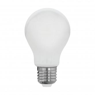 EGLO 11596 | E27 8W -> 60W Eglo obični A60 LED izvori svjetlosti filament, milky 806lm 2700K 360° CRI>80