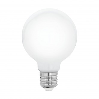 EGLO 11597 | E27 5W -> 40W Eglo velika kugla G80 LED izvori svjetlosti filament, milky 470lm 2700K 360° CRI>80