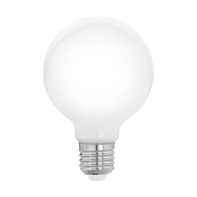 EGLO 11597   E27 5W -> 40W Eglo velika kugla G80 LED izvori svjetlosti filament, milky 470lm 2700K 360° CRI>80