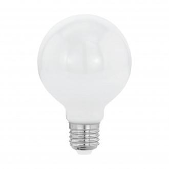 EGLO 11598 | E27 8W -> 60W Eglo velika kugla G80 LED izvori svjetlosti filament, milky 806lm 2700K 360° CRI>80
